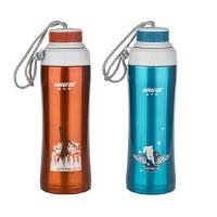 哈尔斯 高真空运动壶450ML 不锈钢保温杯手提运动杯 直饮保温杯 带茶隔 两色