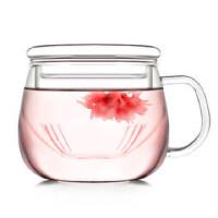 自由城 创意园趣花茶玻璃杯 耐热茶杯 礼品 CF-82 水杯 HB-14