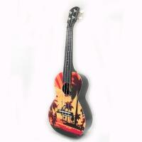 支持货到付款 Vorson  23寸 C型 尤克里里  彩印 尤克里里 ukulele 乌克丽丽 小四弦 夏威夷小吉他  乌克丽丽 四弦琴 AUP-24-66 新款 送(琴套+3个拨片+教程一本)