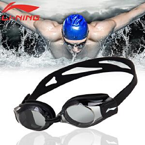 LI-NING/李宁 平光近视泳镜 近视0-600度 高清防水防雾眼镜 多色可选男女通用LSJK508