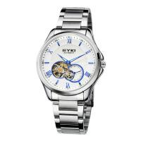 2017年新款 EYKI艾奇 全自动机械表 钢带手表 罗马刻度 男表 8628 白盘蓝针