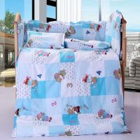 纯棉幼儿园被子三件套全棉儿童午睡被九件套被罩被褥含芯床靠床围