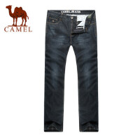 骆驼男装 新款牛仔裤 男士水洗牛仔裤 直筒牛仔裤