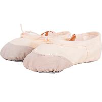 捷�N 成人幼儿童舞蹈鞋软底猫爪鞋女童芭蕾舞鞋女款练功鞋帆布瑜伽鞋女