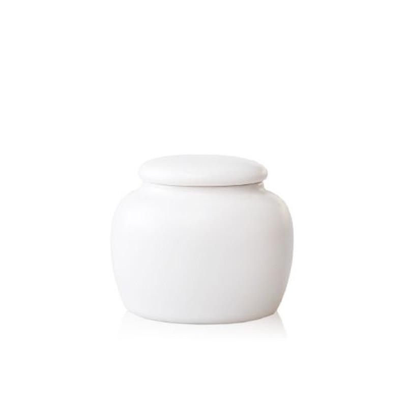 陶瓷故事 陶瓷茶叶罐 香粉罐 带密封小罐小巧可爱白釉均码