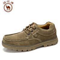 骆驼牌 秋冬新品 日常休闲男鞋轻质系带男鞋
