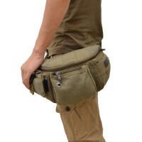 男包腰包帆布包休闲胸包零钱包单肩包小包运动包