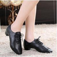 拉丁舞鞋男童鞋舞蹈鞋男士黑色少儿童成人软底练功鞋广场舞鞋 静音室外舞蹈鞋