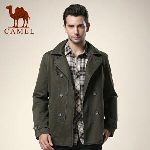 CAMEL 骆驼男装 新款男士双排扣风衣 休闲翻领外套