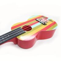 支持货到付款 Vorson 彩印 ukulele 23寸 尤克里里  标准弦长 乌克丽丽 ukulele 小四弦专业音准 夏威夷小吉他 红色  彩虹 AUP-24-54