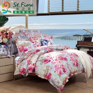 [当当自营]富安娜家纺纯棉四件套1.5米1.8米床印花套件 美丽人生 粉色 1.5m