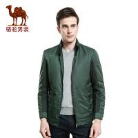 骆驼男装 新款夹克 男士立领休闲夹克 新款jacket外套