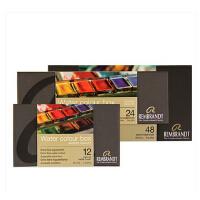 泰伦斯荷兰REMBRANDT伦勃朗固体水彩颜料24色水彩颜料金属盒装