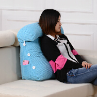 可调节沙发靠垫抱枕三角靠垫床头大靠垫办公室腰靠背垫床上靠枕护颈枕