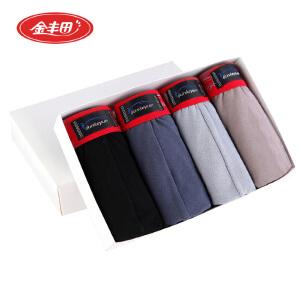 金丰田4条装 男士棉质时尚性感纯色三角内裤E0001
