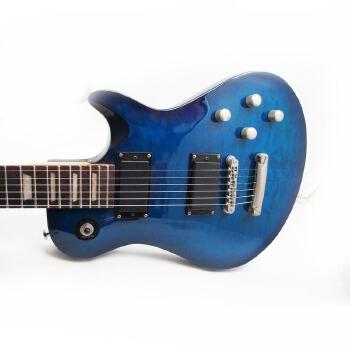 摇滚电吉他 电声吉他 电六弦琴 电琴 双双拾音器 三档开关 玫瑰木指板