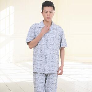 金丰田男士夏季新品卡通舒适家居服睡衣套装