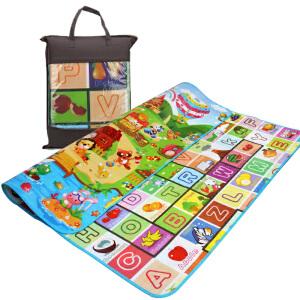 橙爱 婴儿多功能爬行垫/爬爬垫/游戏垫/外出野餐垫 水果、字母、数字、动物加厚防潮地垫 儿童爬行玩具宝宝礼物