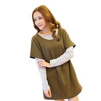 慈颜CIYAN孕妇装 秋冬装 韩版 女装百搭两件套长款LW6020