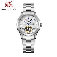 上海牌手表时尚潮流男表上海手表大盘表防水精钢带全自动机械表