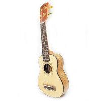 货到付款 vorson 21寸 S型 尤克里里 小四弦琴  小吉他 ukulele 天然形成纹理 激光雕图 雅致淡然  金属封闭旋扭 ZB-YB