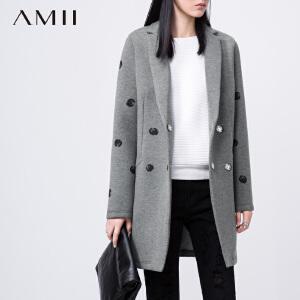 【AMII超级大牌日】[极简主义]2017年春新翻领波点印花大码西装11581939