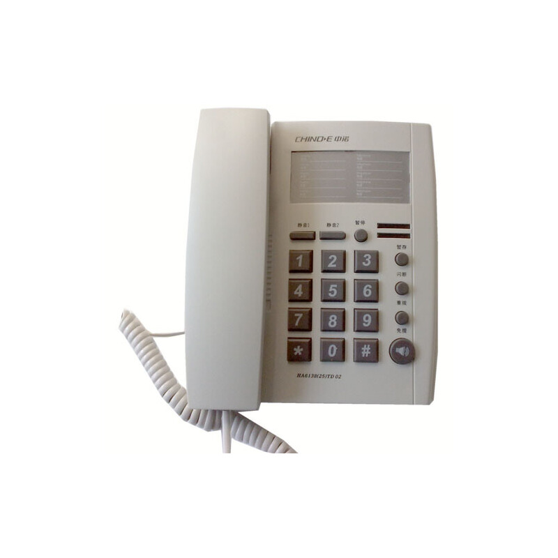 中诺6138(2502)普通电话机(浅灰)