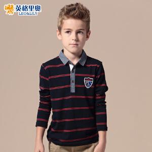 英格里奥春秋童装春装新款男童T恤儿童长袖T恤polo衫3502