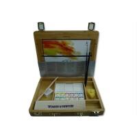 好吉森鹤温莎牛顿winsornewton/YSJ半块装水彩竹盒装水彩颜料12色绘画颜料1套装+送品0000911