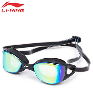 LI-NING/李宁 平光防水防雾大框男女休闲舒适游泳镜 立体液态硅胶镜圈LSJK566