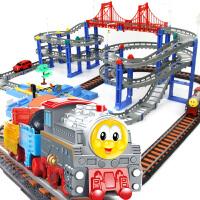 橙爱立昕 高速交通线 双轨道托马斯火车轨道车 儿童益智拼搭玩具 3-7岁 儿童礼物