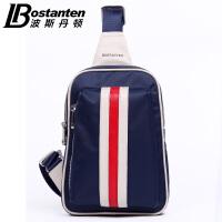 (可礼品卡支付)波斯丹顿男士胸包韩版帆布包腰包 运动包休闲单肩包斜挎包女潮款B50051