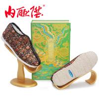 内联升女棉鞋十字针手工千层底工艺织锦羊毛安棉鞋 老北京布鞋 8417A