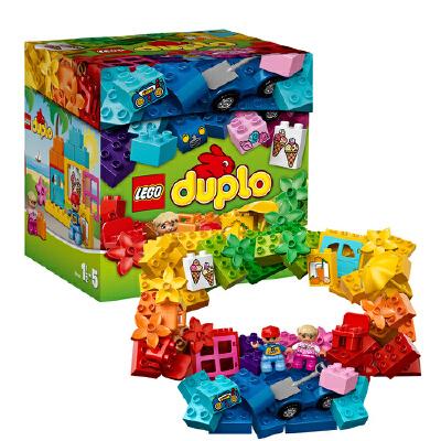 [当当自营]LEGO 乐高 duplo得宝系列 乐高得宝创意拼砌盒 积木拼插儿童益智玩具 10618【当当自营】适合1.5-5岁,70pcs小颗粒积木