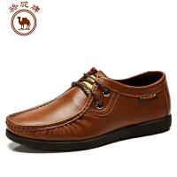 骆驼牌 春季新款 日常休闲男皮鞋 系带 男皮鞋 耐磨