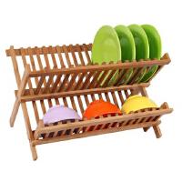 包邮 味老大 厨房竹制滴水碗架 置物架 收纳架 碗盆架 沥水架 碗碟架