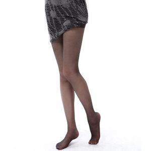 浪莎丝袜 性感显瘦包芯丝加裆连裤袜 超薄脚尖隐形透明丝袜子 10条