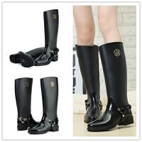 女士雨靴高筒马靴骑士靴女靴大码水鞋雨鞋女成人防滑长筒水靴