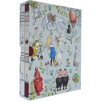 Alice in Wonderland Slipcase Set 爱丽丝梦游仙境 2册礼盒装 格林威大奖