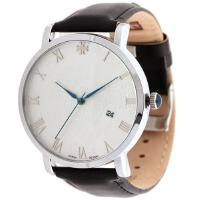 2017新款 Julius聚利时 大方得体 龙凤日历男士手表 情侣手表之男表 JA-585 白色