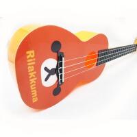 支持货到付款 Vorson  23寸 C型  彩印 ukulele  可爱 尤克里里  标准弦长 乌克丽丽 ukulele 小四弦专业音准 夏威夷小吉他 橘黄色 卡通 AUP-24-60