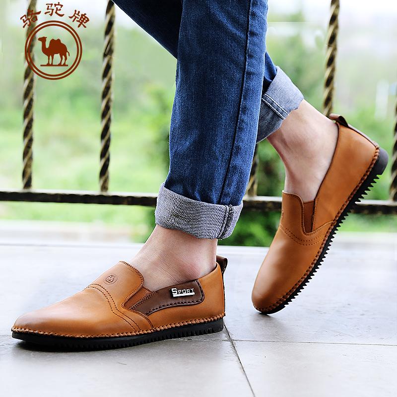 骆驼牌 春季新款 日常休闲男皮鞋 套脚 流行男鞋子 耐磨海量新款上新,早买早优惠