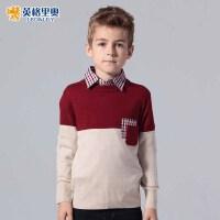 英格里奥童装男童毛衣童装英伦风儿童毛衣1241