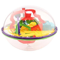 爱可优 3D立体迷宫球智力球挑战智力 儿童益智玩具球 创意玩具 168关935A