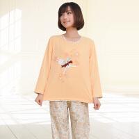 金丰田春秋可爱卡通女士长袖睡衣家居服套装1503
