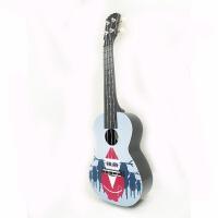 支持货到付款 Vorson 23寸 C型  彩印 尤克里里 ukulele 乌克丽丽 小四弦 夏威夷小吉他  乌克丽丽 四弦琴 AUP-24-71 圣诞老人 圣诞主题 墨镜 新款 送(琴套+3个拨片+教程一本)