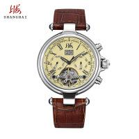 上海牌手表正品 男士全自动机械表多功能复古名表男表 上海手表男