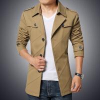 新款秋冬男士中长款风衣外套男士大码外套