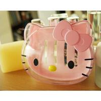 Hello Kitty 猫头造 轻松熊型皂碟新品头形透明香皂盒肥皂盒