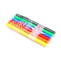 日本TOMBOW蜻蜓水性双头彩色笔/勾线笔/马克笔 GCB-611 6色套装